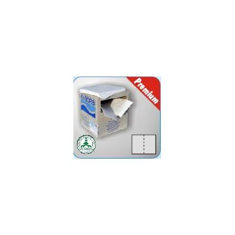 Absorbčné rohože EUSORB OPHF Premium spevnené perforované (pre oleje, 40x50 cm, 100 ks)