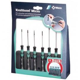 Sada skrutkovačov pre elektroniku WERA 2035 A Kraftform Micro, stojan, 6 dielov