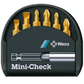 Sada bitov WERA Mini-Check TiN PH, 7 dielov