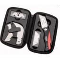 Zatvárací nôž BESSEY ERDI, 2-komponentná plastová rukoväť Comfort, sada