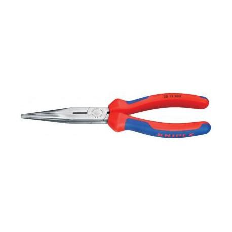 Poľgulaté kliešte KNIPEX s nožmi, leštené, 200 mm, 2f plast, tvar 1