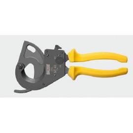 Jednoručné nožnice so západkovým prevodom na vodiče do priemeru 40 mm.