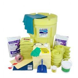 Maxi absorbčná súprava EUSORB HSES360-CH na likvidáciu havarijných únikov chemických látok (249 l)