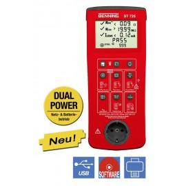 Prenosná skúšačka elektrických prístrojov s batériovým a sieťovým napájanín BENNING ST 725