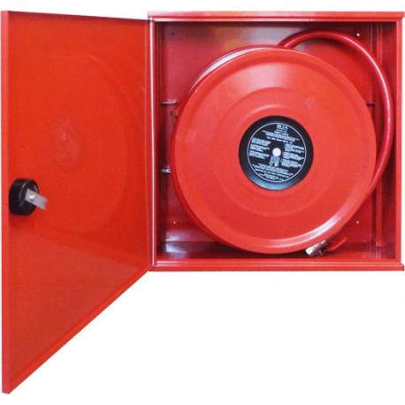 Hydrant s 30 m tvarovo stálou hadicou D25, červená skrinka